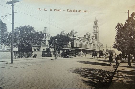 1920 - Estação da Luz - Cena Urbana - Edição Papelaria Cardoso e Filho - DCP