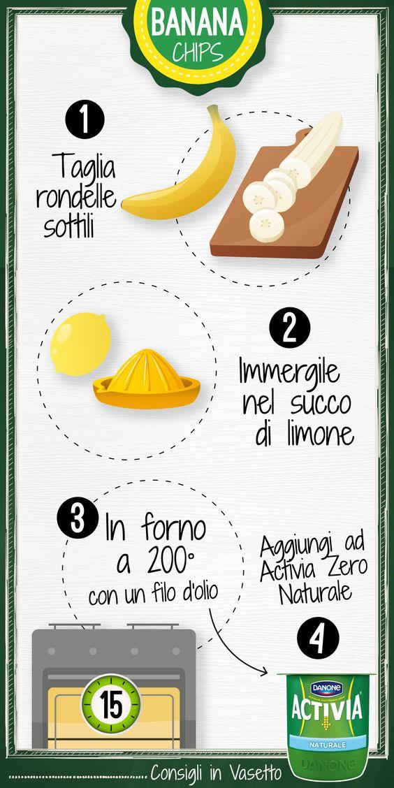 #Banana chips fatte in casa e #Activia Zero: #riACTIVIAti con un muesli speciale!