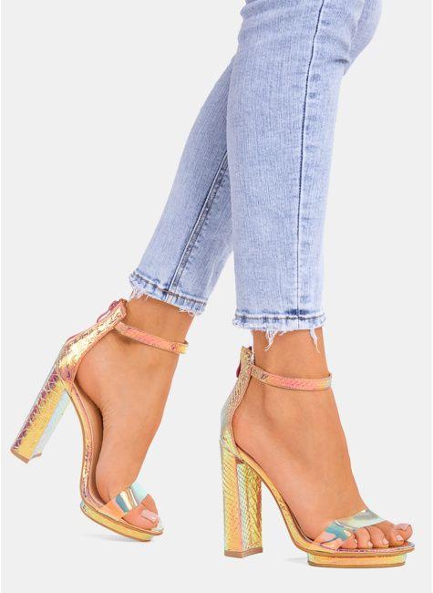 Sandały damskie na słupku, platformie, sportowe, z pomponami