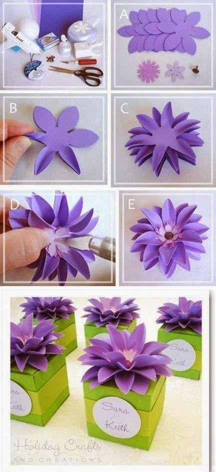Bomboniere Fai da Te - fiore decorativo passo dopo passo