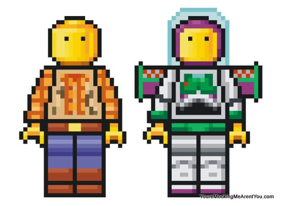 minifig woddy & buzz
