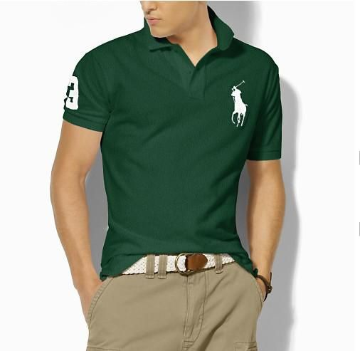 Ralph Lauren Men\u0026#39;s Classic Slim-Fit Big Pony Short Sleeve Polo Shirt True Green /