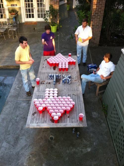 Texas beer pong!