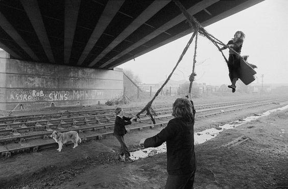 Children playing on waste ground  Middlesbrough, 1976  Philip Jones Griffiths: