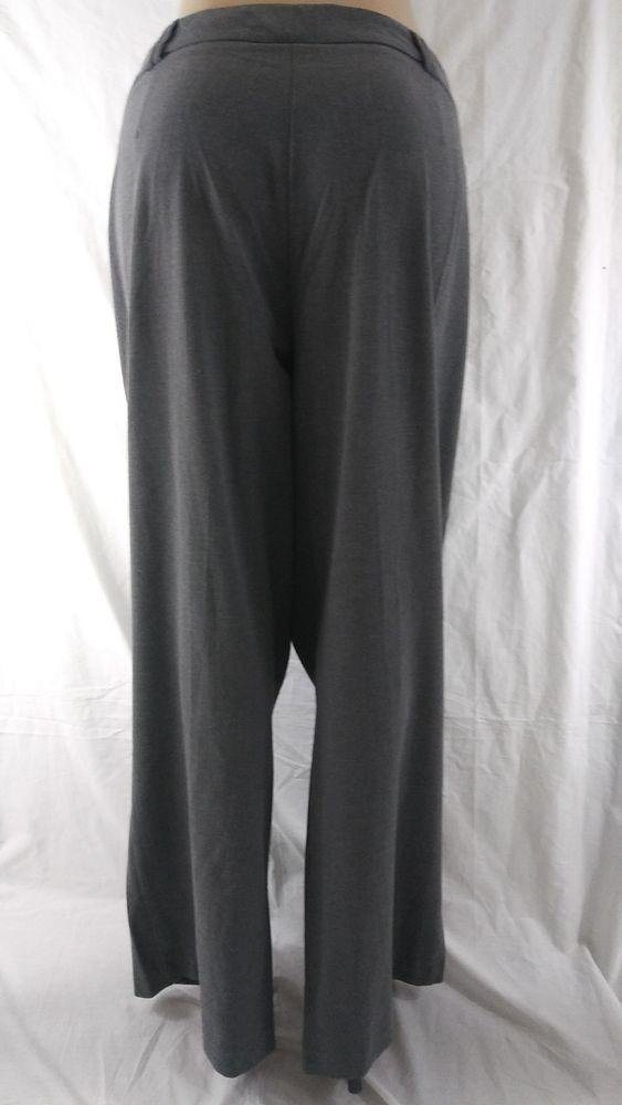 Ashley Stewart Womens Plus Size 20w Grey Gray Dress Work Pants