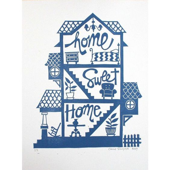 Home Sweet Home Print  sold out, but I just love this print!