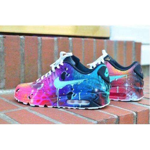 Nike Air Max 90 Damen Sale Pink Schwarz Weiss Blau