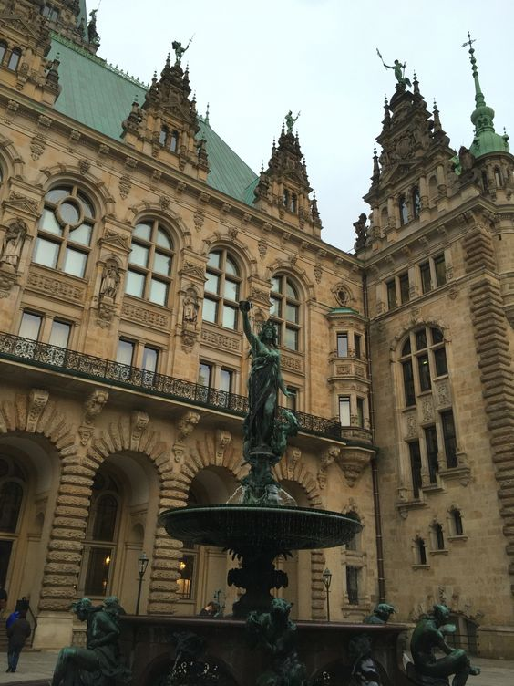 Hamburg , Germany : the town hall