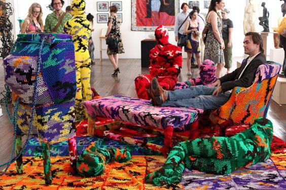 esculturas vestidas con crochet - Buscar con Google