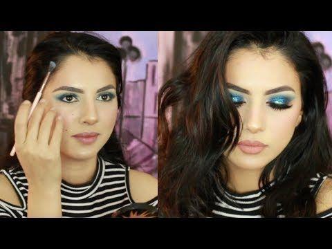 مكياج سموكي لامع ازرق نورس ستار Youtube Halloween Face Makeup Face Makeup Halloween Face