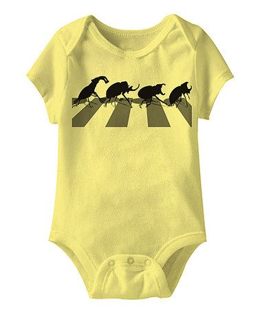 Another great find on #zulily! Banana Beetle Crossing Bodysuit - Infant #zulilyfinds