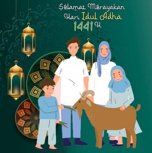 Poster Idul Adha 2020 Di 2020 Kartun Gambar Gambar Lucu