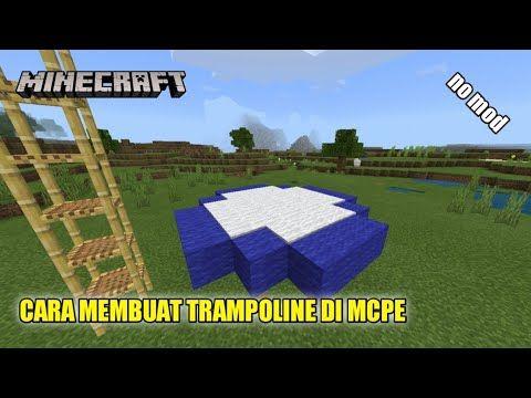 Cara Membuat Trampoline Di Minecraft Pe Youtube In 2021 Trampoline Minecraft Pe Minecraft
