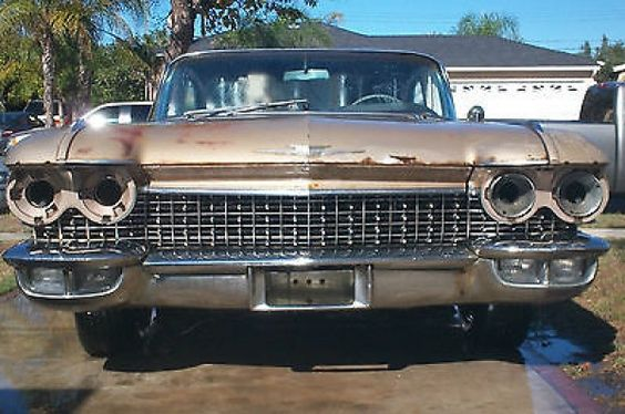 Cadillac : DeVille Original Paint Cheap Project 1960 Cadillac Series 62 Bubbletop Coupe CHEAP PROJECT ORIGINAL PAINT - http://www.legendaryfind.com/carsforsale/cadillac-deville-original-paint-cheap-project-1960-cadillac-series-62-bubbletop-coupe-cheap-project-original-paint/