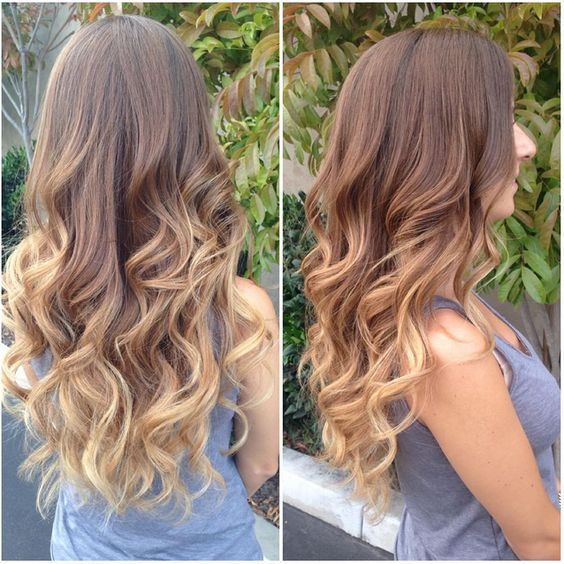 Light Brown Hair Ombre Subtle light brown omb...