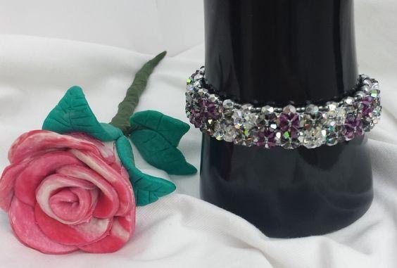 Wunderschönes Armband mit Swarovski Elements von Steffi's Schmuckkästchen auf DaWanda.com