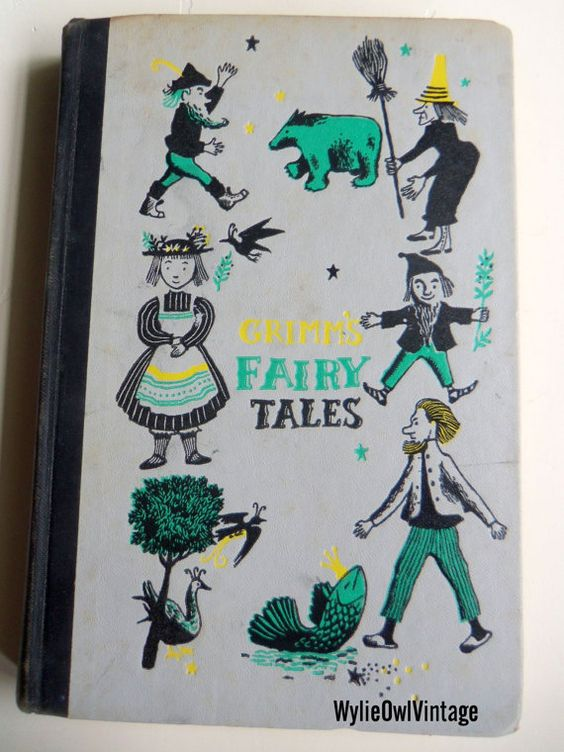 Vintage Grimm's Fairy Tales Book Junior Deluxe Edition
