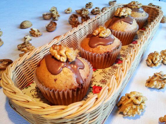 Karamellisierte Schoko-Walnuss-Muffins Das Einläuten der Nuss-Ernte :-)