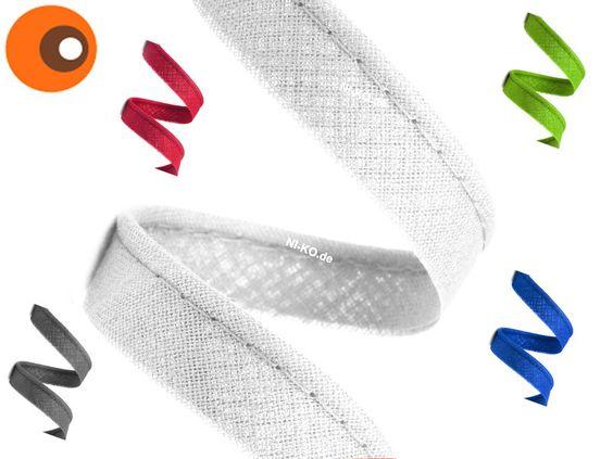 Paspelband - 1 m Paspelband, weiß - ein Designerstück von NI-KO bei DaWanda