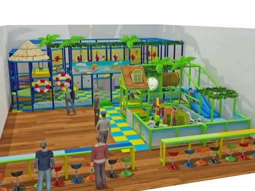 2 Story Ocean Theme Ballistic Playgym - Indoor Playgrounds International