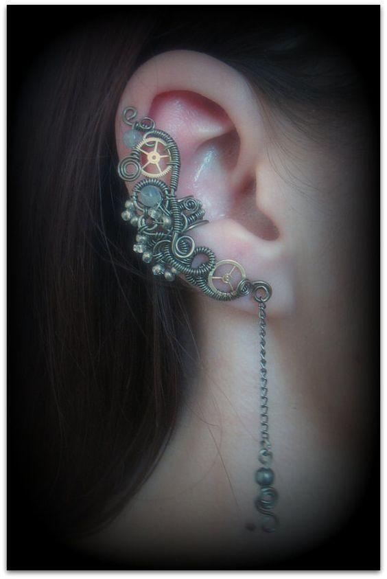 Steampunk ear cuff $26