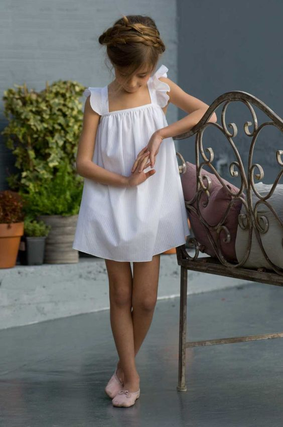 White Ribbon Summer Dress