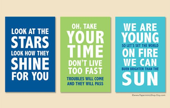 12x18 Set of 3 Custom Prints Personalized Quote by papermintsshop, $124.00