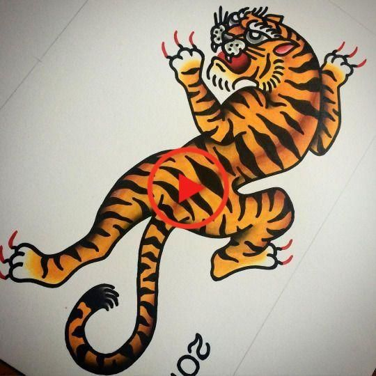 Tattoos Flash Tattoos Future Tattoos Traditional Tiger Tattoo Tattoo In 2020 Traditional Tiger Tattoo American Traditional Tattoo Traditional Tattoo