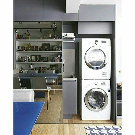 Inspiração ♡ #interiores #design #interiordesign #decor #decoração #decorlovers #archilovers #inspiration #ideias #lavanderia #laundry #áreadeserviço