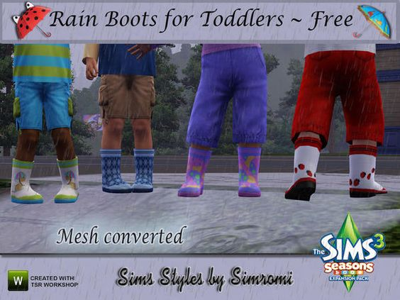 Rainboots for Toddlers by Simromi  http://www.thesimsresource.com/downloads/1186446