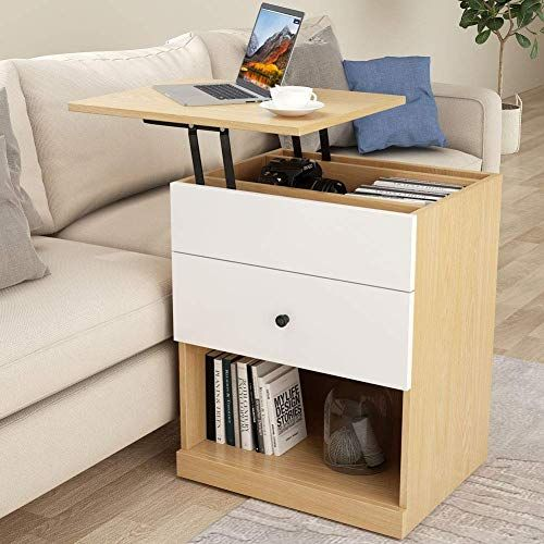 Enjoy Exclusive For Tribesigns Sofa Couch Side Table Mobile End Table Lift Top Laptop Height Adjustable Bedside Table Small Laptop Desk Drawer Storage Shel Bedroom End Tables Desk With Drawers Small