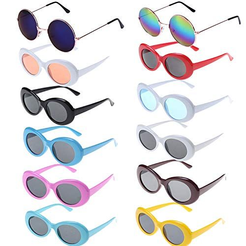 Childen Size Girls Mod Round Circle Lens Oval Thick Plastic Fashion Sunglasses
