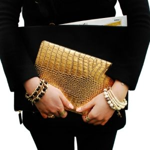【韓國 Gaze】Gold Croco iPad Mini 2 / Retina 金漆鱷紋手工真皮保護套 :: Mi Tipo Shoppe