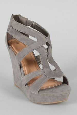 strappy platform wedges from Wanelo $22.30