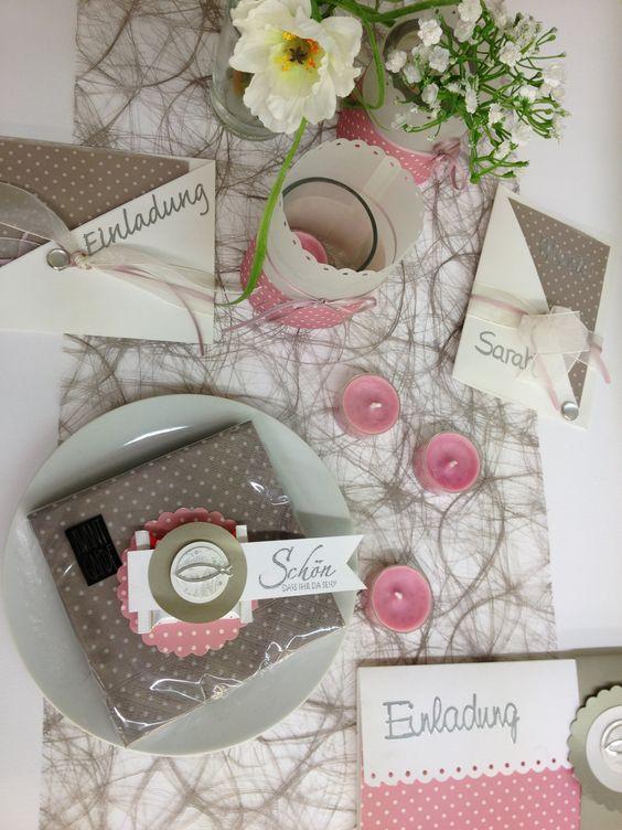 Tischdekoration baby pinterest for Deko kataloge bestellen