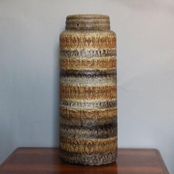 Very large Scheurich Vase West German pottery by 20thCenturyParade, £40.00 #scheurich #west german pottery #wgp