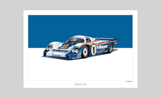 L'histoire de la course: voiture de course historiques Illustrations par Arthur Schening | First Look