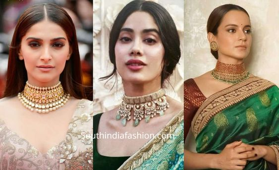 how to style indian choker necklaces