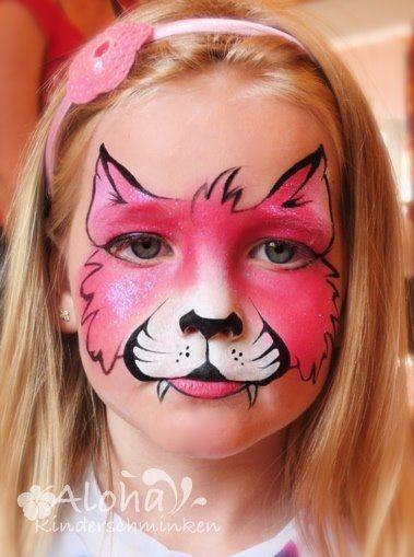 kinderschminken motive f r ihre kinderparty kinderschminken pinterest katzen und pink. Black Bedroom Furniture Sets. Home Design Ideas