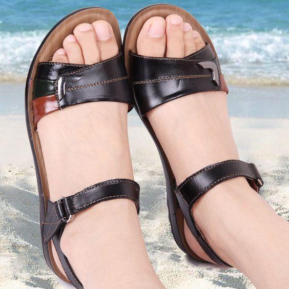 $24.19 (Buy here: https://alitems.com/g/1e8d114494ebda23ff8b16525dc3e8/?i=5&ulp=https%3A%2F%2Fwww.aliexpress.com%2Fitem%2F2016-summer-new-Mother-sandals-flat-genuine-leather-wedges-plus-size-slip-resistant-women-summer-shoes%2F32628562471.html ) 2016 summer new Mother sandals  flat  genuine leather wedges plus size slip-resistant  women summer shoes Sandals & Flip Flops for just $24.19
