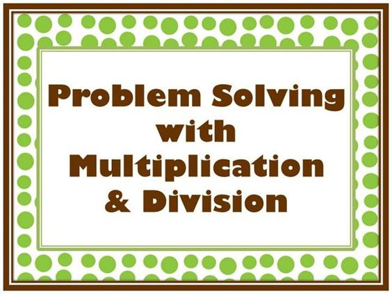 Problem Solving with multiplication adn division by liz4makers via authorSTREAM
