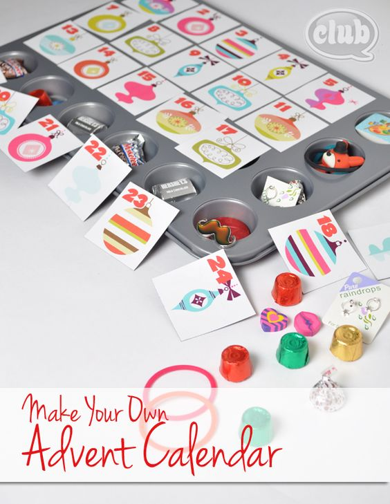 make your own advent calendar and free printable tween With make your own advent calendar template
