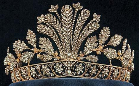 Napoleon cut steel tiara of the Swedish Royal Family :: tiara :: royal :: delicate :: ornate :: floral :: steel :: crown ::