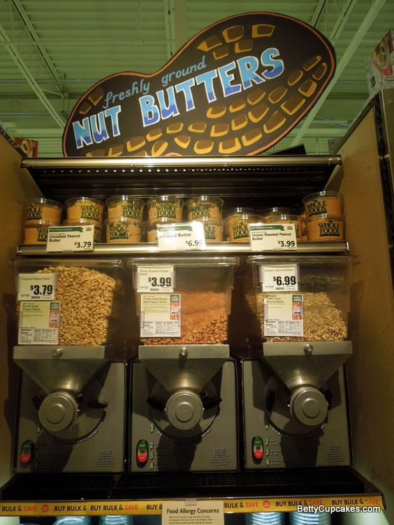 Freshly Ground Nut Butter at Whole Foods Market South Weymouth MA | BettyCupcakes.com