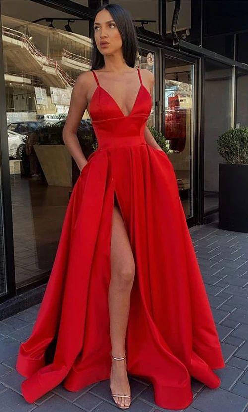 modelos de vestido de formatura vermelho