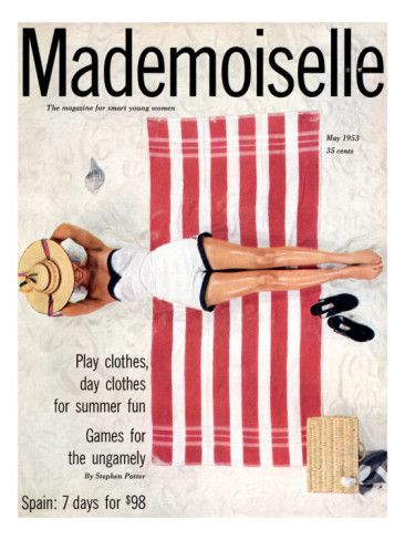 cMag187 - Mademoiselle Magazine cover by Somoroff / May 1953