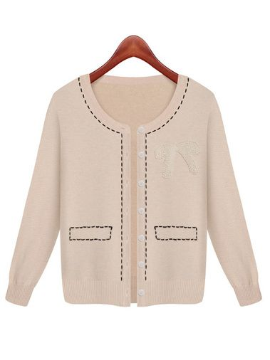 Amazing Single Breast Long Sleeve Slim Women Summer Spring Sweaters Cardigan on buytrends.com