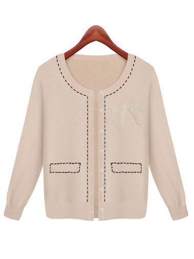 Amazing Single Breast Long Sleeve Slim Women Summer Spring Sweaters Cardigan on buytrends.com