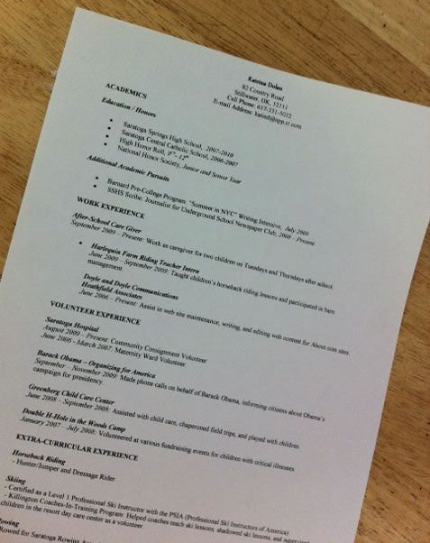 High School Resume Examples and Writing Tips High school resume - resume templates for highschool students