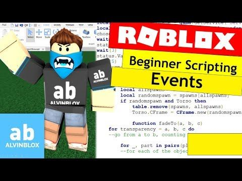 4 How To Script On Roblox For Beginners Events Episode 10 Youtube Roblox Script Screenwriting